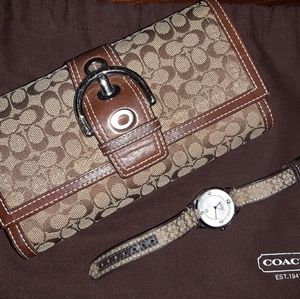 Coach Wallet and Watch